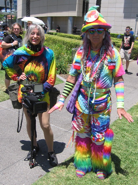 The gentleman on the right goes by the name Colorful Guy.