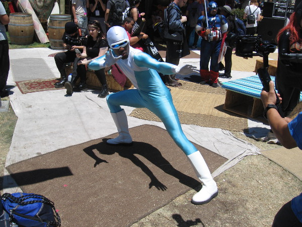 Frozone strikes his action pose.