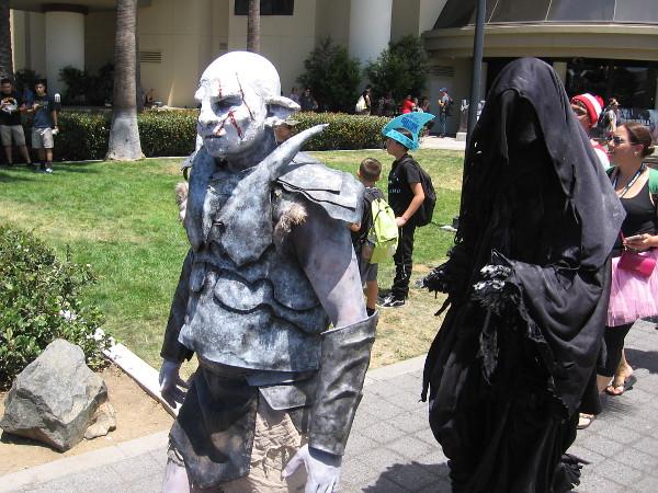 Azog and Nazgul cosplay.