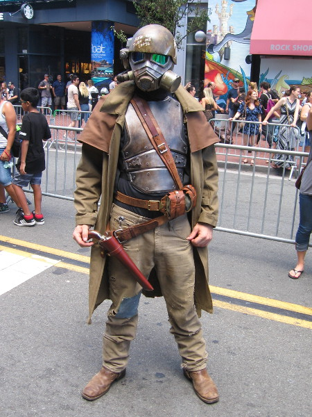 This guy said his unique cosplay is a combination of the Old West and Mad Max.