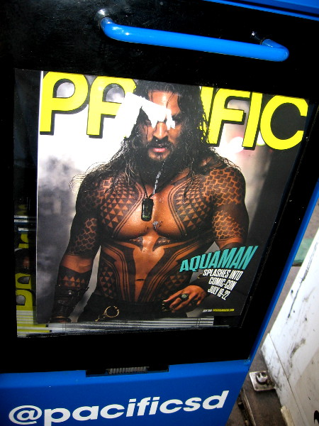 Pacific San Diego Magazine's latest issue has hit the streets. It includes an article about Aquaman appearing at 2018 Comic-Con