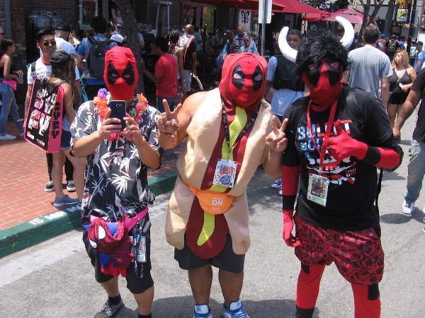 Three peculiar versions of Deadpool. Take your pick.