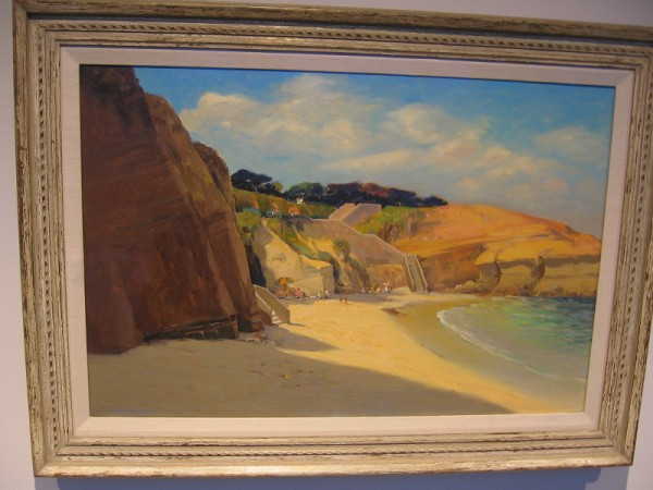 La Jolla Cove, Alfred Mitchell, oil on canvas, circa 1950.