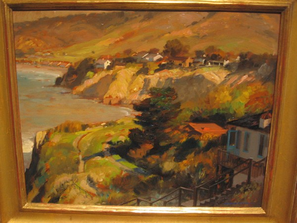 Cliffs South of La Jolla Shores, Alfred Mitchell, oil on board, circa 1930.
