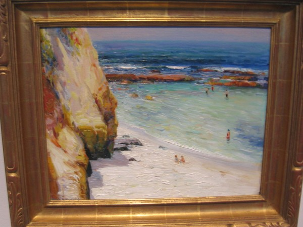 Bathing, Alfred Mitchell, oil on board, undated.