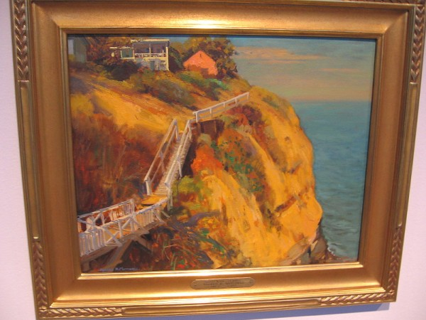 La Jolla Coast Walk, Alfred Mitchell, oil on board, undated.