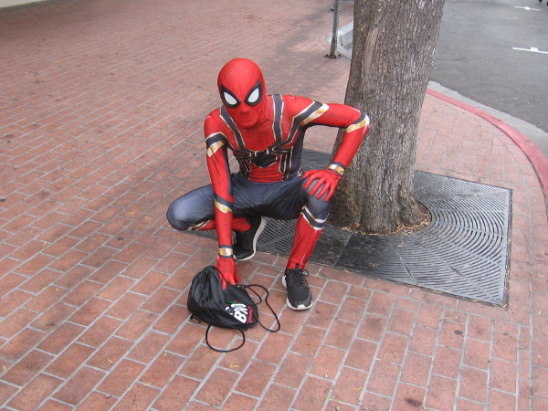 Spidey is taking a breather, even though Comic-Con has barely begun!