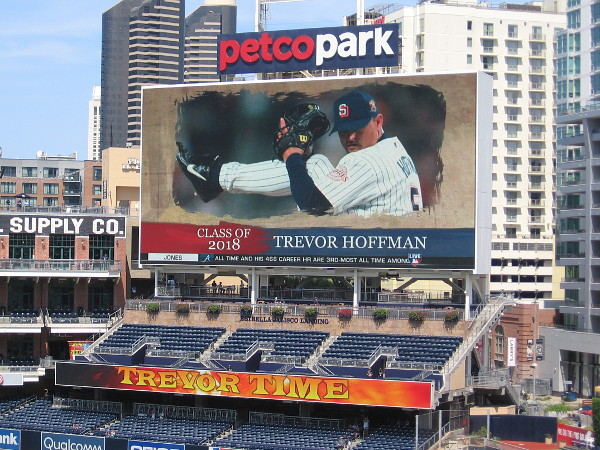 Trevor Hoffman, who spent his career as closing pitcher for the San Diego Padres, is part of the Class of 2018.