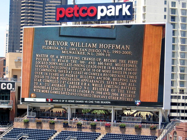 Trevor Hoffman, master of a mystifying change-up, became the first pitcher to reach the 500 and 600 save milestones.