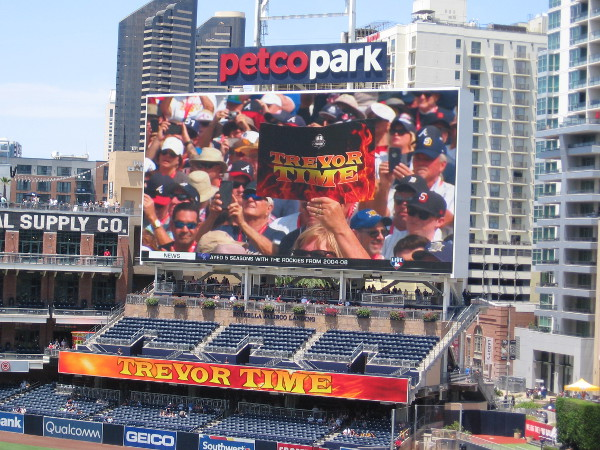 It's Trevor Time one more time at Petco Park.