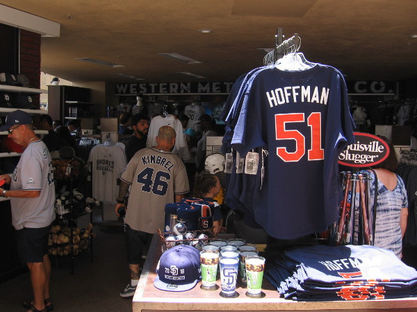Hoffman jerseys were a hot item today.