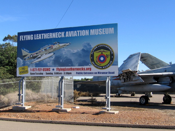 The Flying Leatherneck Aviation Museum, open free to the public, is located at Marine Corps Air Station Miramar.