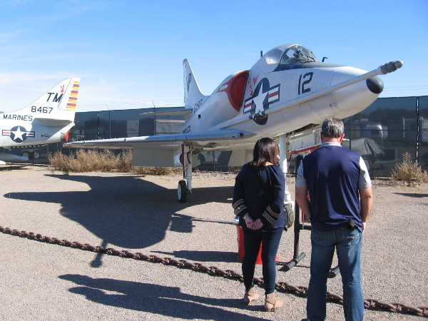 Visitors to the Flying Leatherneck Aviation Museum learn about the history of one airplane in their large and fascinating collection.