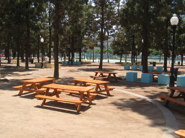 Picnic benches have been placed in Childrens Park, which will become a spooky Castle Rock forest.