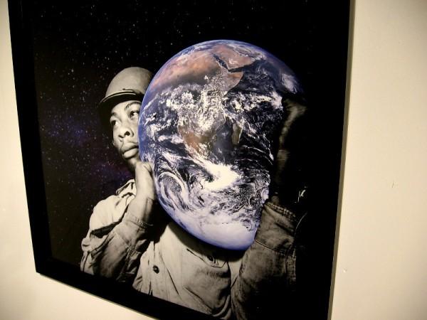 Atlas, a digital collage by Jessi Jumanji.