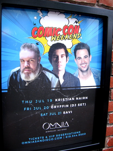 Omnia nightclub has its lineup ready for Comic-Con weekend.