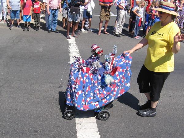A patriotic pooch.