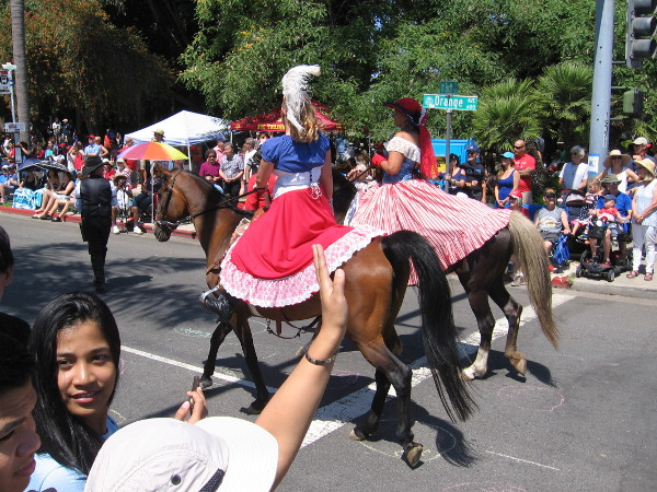 There were lots of parade participants on horseback.
