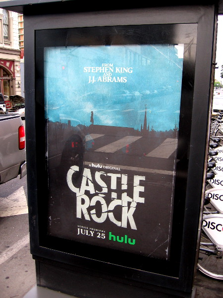 A couple posters promoting Castle Rock have appeared in the Gaslamp, including a spot near the Tin Fish.