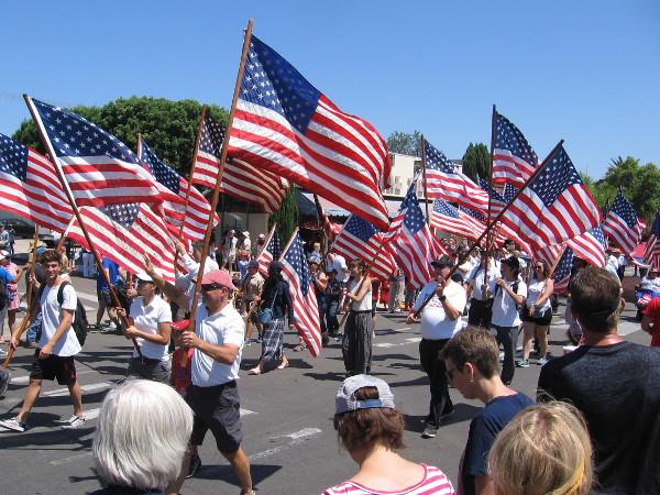 Flags everywhere.