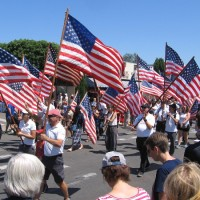 Colors of patriotism at big Fourth of July parade!