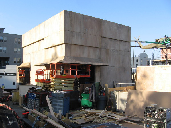 A gigantic bunker-like structure has been built in one corner of Amazon's Jack Ryan Experience off-site for 2018 San Diego Comic-Con.