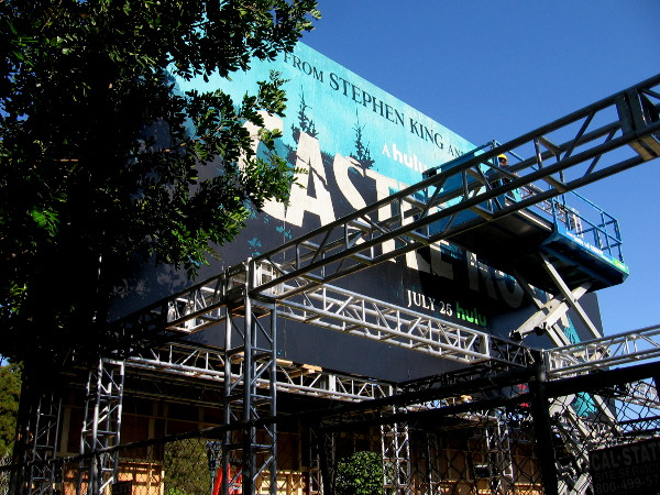Hulu's offsite promoting Castle Rock is rising near the New Children's Museum in San Diego.