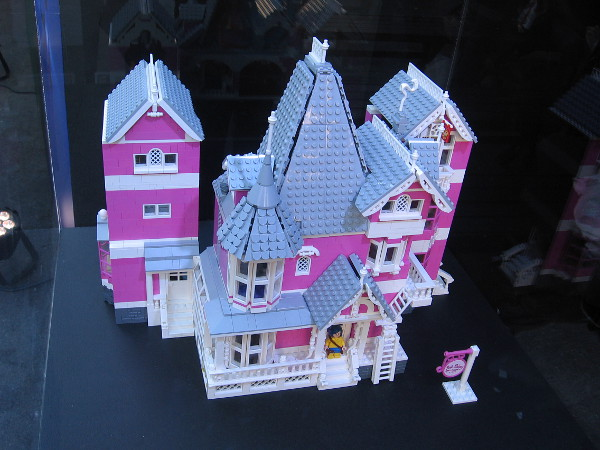 Visitors are encouraged to vote for this LEGO model of Coraline's house by photographing a QR code. Given enough votes, LEGO will produce the kit!