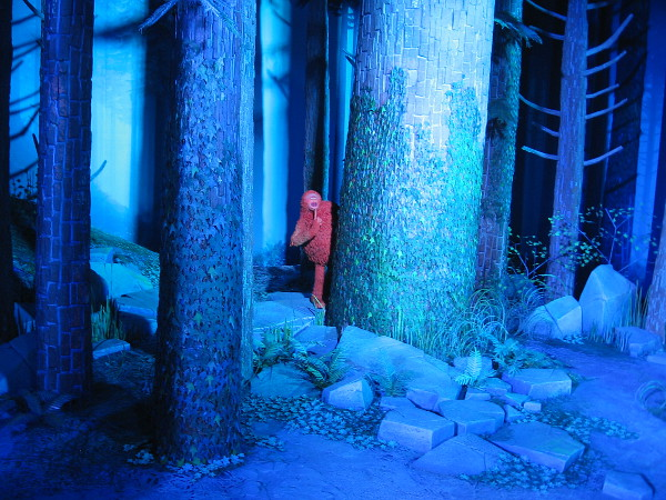 The tour continues to a large set that is being used to film Laika's upcoming funny movie Missing Link. The detail of the Pacific Northwest forest is extraordinary.