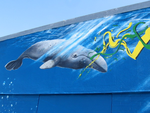 Another whale in the mural.
