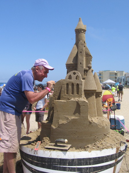Here's the castle and a smile. Creating that looks like fun!