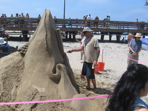 Team Sandstorm was creating something just north of the IB Pier.
