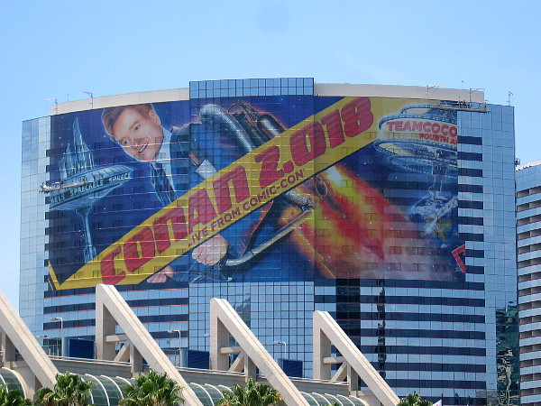 The big Conan wrap on the Marriott Marquis is almost completed!