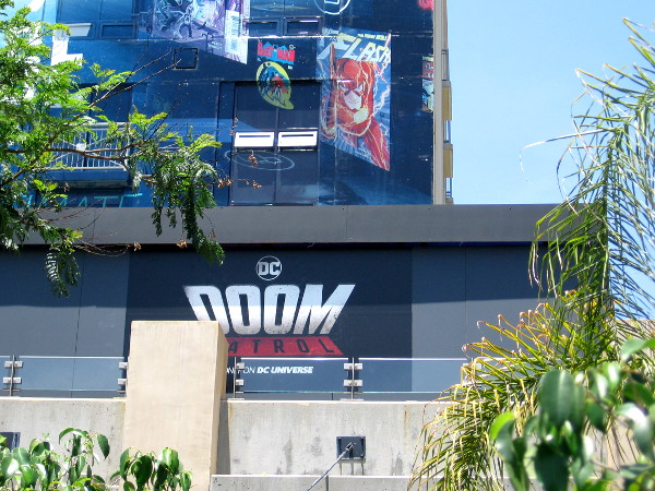 A Doom Patrol sign on a portion of the DC Universe Experience. This must be Chief's (Dr. Niles Caulder) Lab.
