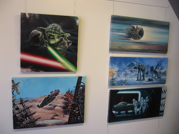 Inside The Chuck Jones Gallery in the Gaslamp you'll find a bunch of cool Star Wars art.