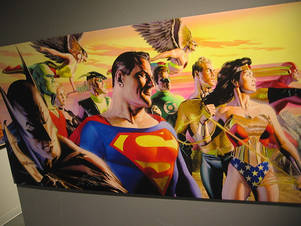Plus some super cool Alex Ross artwork depicting DC's most popular heroes.