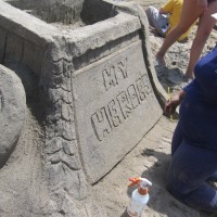 Superhero sand sculptures in Imperial Beach!