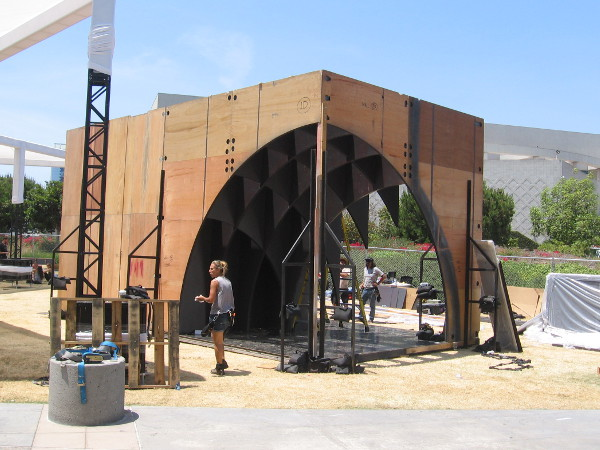 I learned this structure will help promote the FX show Legion.