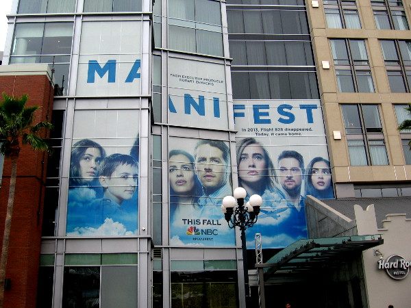 Another graphic promoting Manifest on the convention center side of the Hard Rock Hotel.