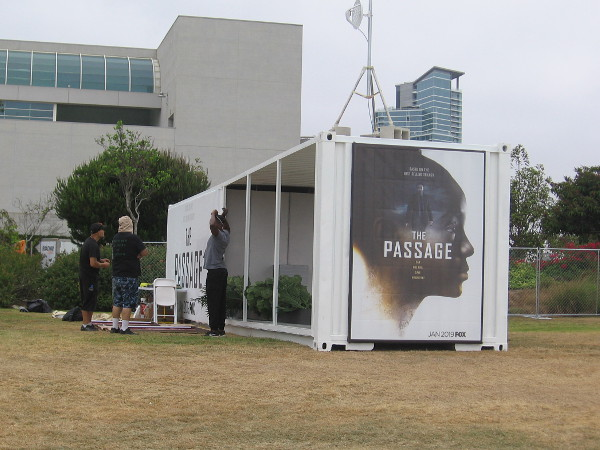 I see FOX will be promoting The Passage in their section of Hilton Waterfront Park.