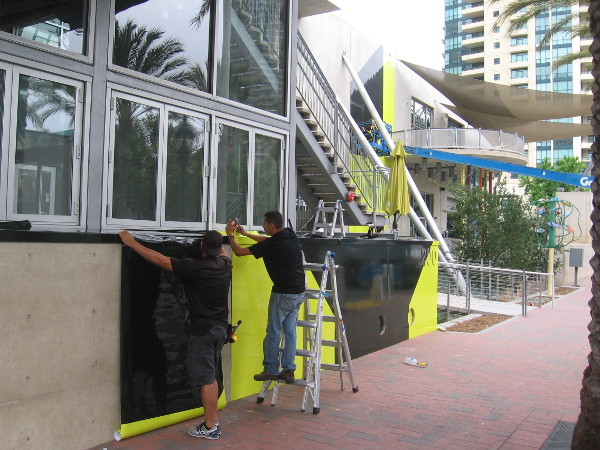 Syfy wraps are being applied to The New Childrens Museum.