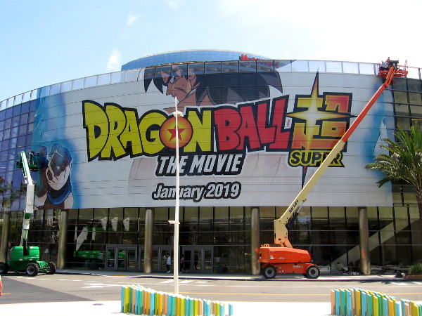 A colorful Dragon Ball Super, The Movie wrap on the Marriott's recent meeting room expansion.