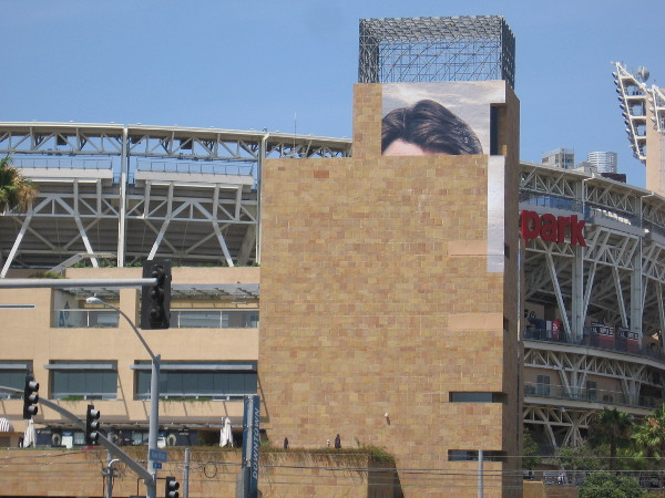 Wraps on Petco Park are appearing. The two I spotted promote Whiskey Cavalier on ABC.
