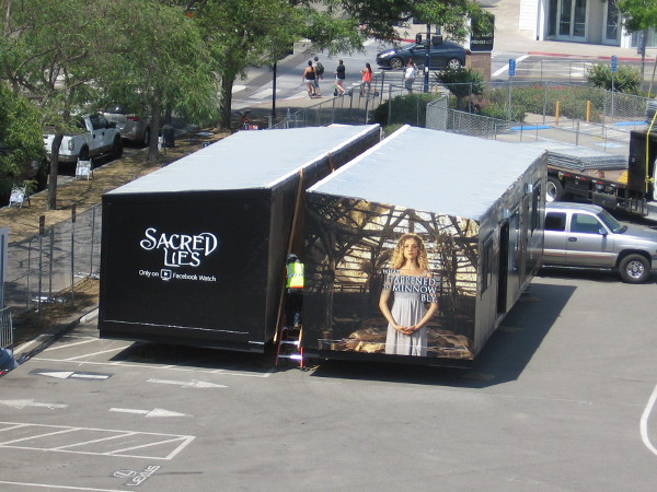 Sacred Lies, an upcoming show on Facebook Watch, will be promoted near one entrance to the Experience at Comic-Con.