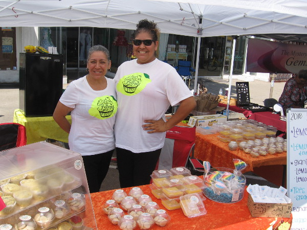 These ladies had all sorts of sweet lemon treats for sale.