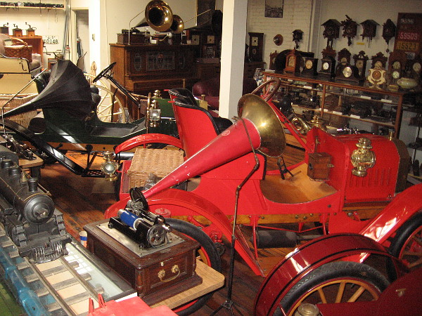 Rare early automobiles and thousands of collectible antiques can be viewed during a visit to the unique J. A. Cooley Museum in San Diego.