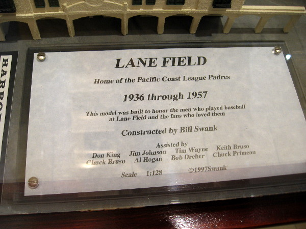 This model was built to honor the men who played baseball at Lane Field and the fans who loved them.
