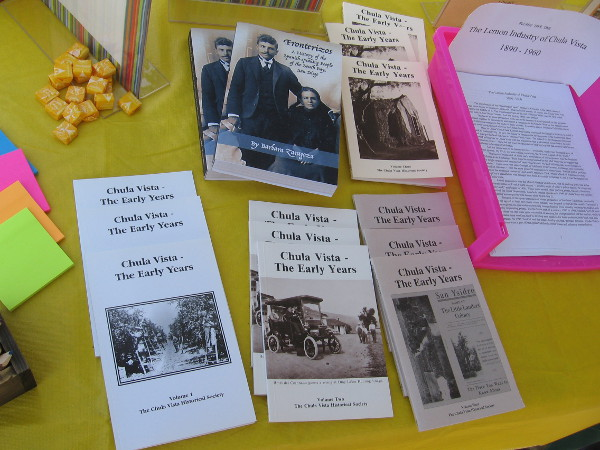 The Chula Vista Historical Society had a booth with books and fascinating information.