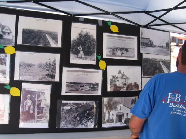 Another booth at the Lemon Festival had lots of old historical photographs.