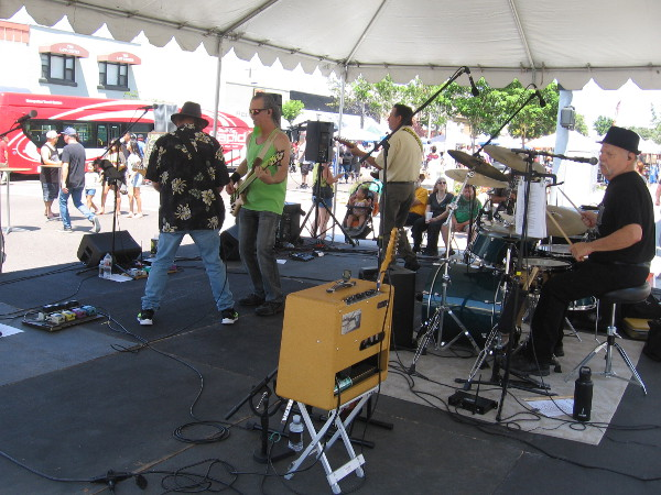 Cool local band, the Lemon Squeezers, at the Chula Vista Lemon Festival.